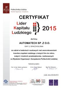 Certyfikat_LKL_2015